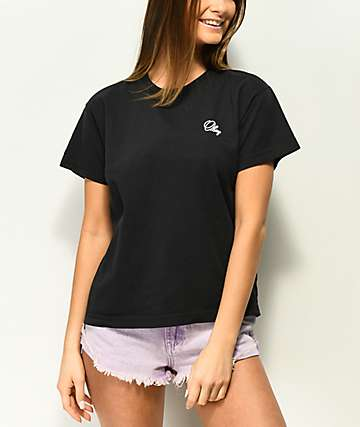 Obey Old Script Black T-Shirt