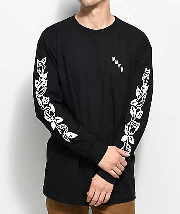Obey Olde Rose Long Sleeve Black T-Shirt