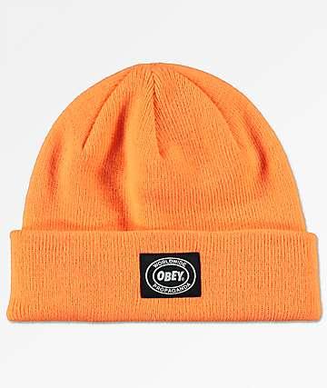 Obey Onset Bright Orange Beanie