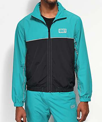 Obey Outlander Teal & Black Track Jacket