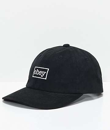 Obey Outline Black Snapback Hat