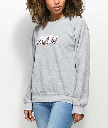 Obey Overgrown Grey Crew Neck Sweatshirt