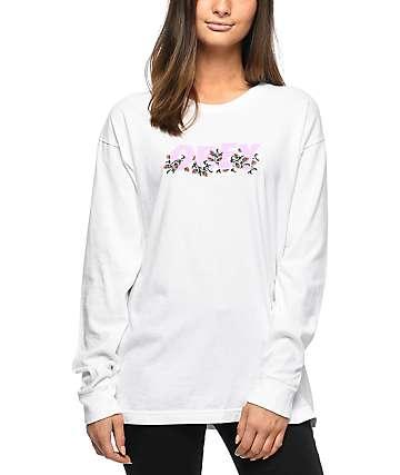 Obey Overgrown Salvage camiseta blanca de manga larga