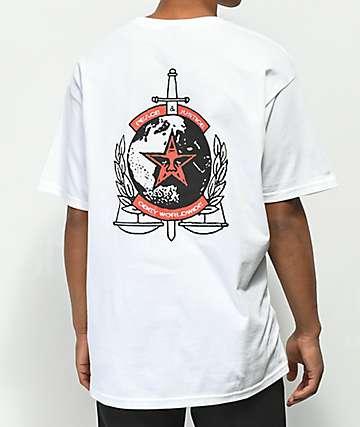 Obey Peace & Justice camiseta blanca