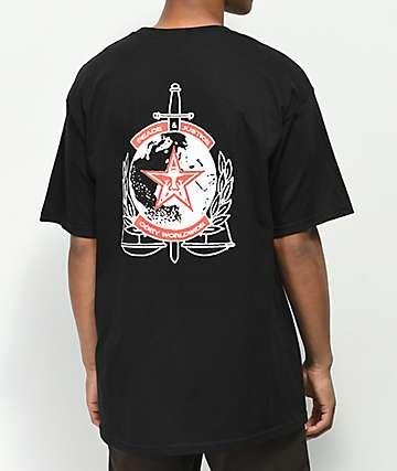 Obey Peace & Justice camiseta negra