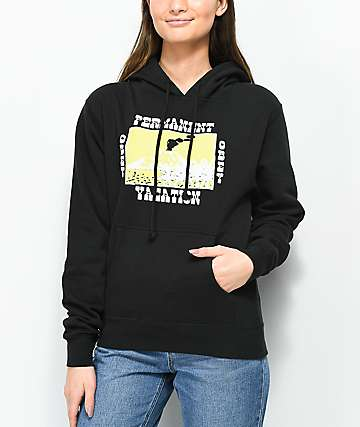 Obey Permanent Vacation Black Hoodie