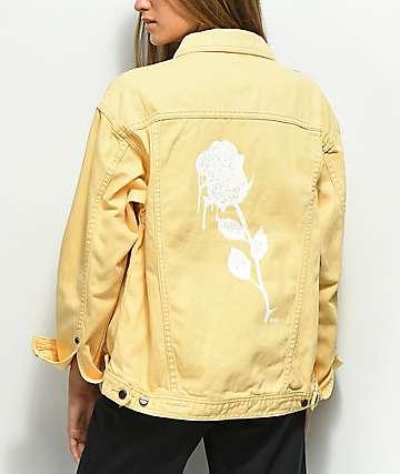 Obey Perry Street Rose chaqueta de mezclilla amarillo