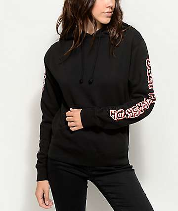 Obey Public Opinion Black Hoodie