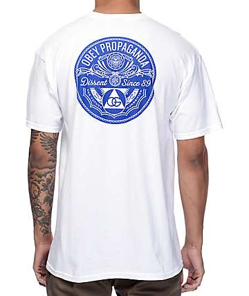 Obey Pyramid Of Dissent camiseta blanca