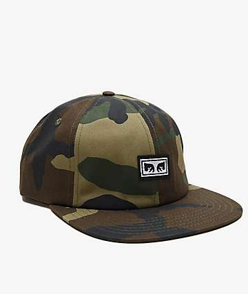 Obey Resist Orange Camo Snapback Hat