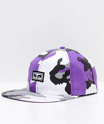 Obey Resist Purple Camo Snapback Hat