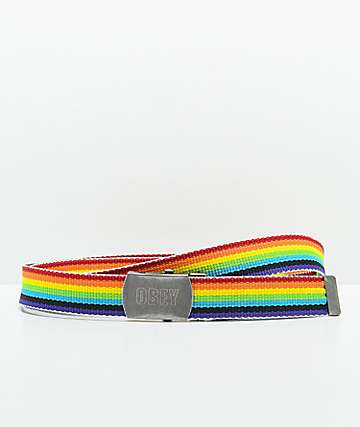Obey Rising Rainbow Web Belt
