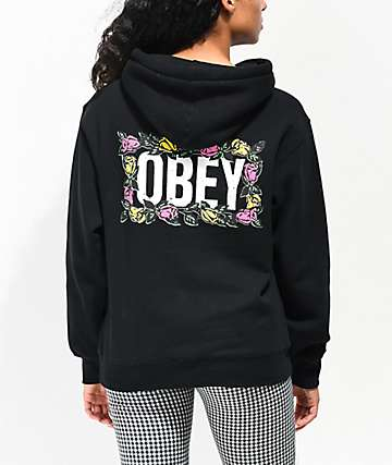 d69a0c50 Obey Rose Brights Black Hoodie