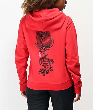 Obey Rose Shackle Red Hoodie