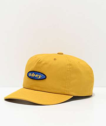 Obey Rotation Golden Palm Snapback Hat