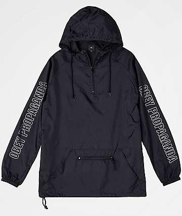 Obey Rough Draft Black Anorak Jacket