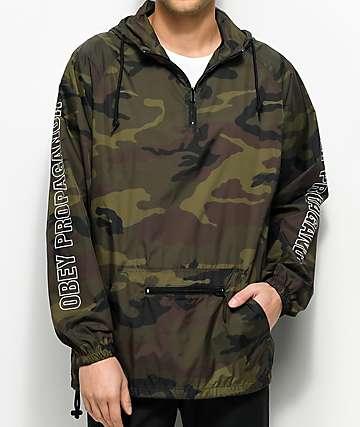 Obey Rough Draft chaqueta anorak cortavientos camuflado