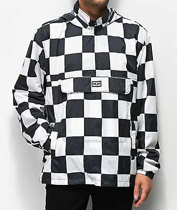 Obey Roundeyes Black & White Track Jacket