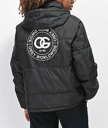 Obey Ruby Black Puffer Jacket