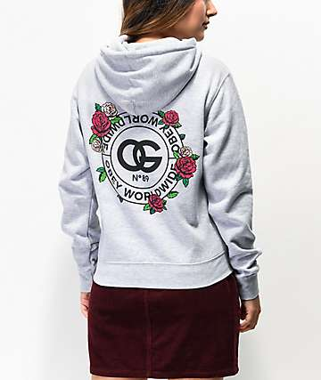 Obey Rue De La Ruine Light Grey Hoodie