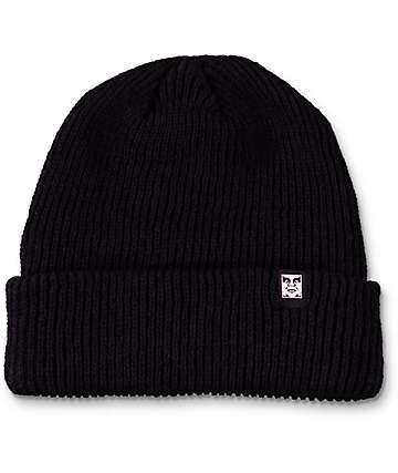 Obey Ruger 89 Black Beanie