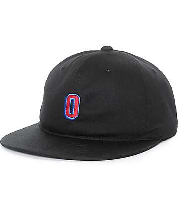 Obey Russell Flexfit gorra negra