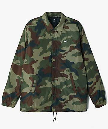 Obey Sanction Camo Coaches Jacket