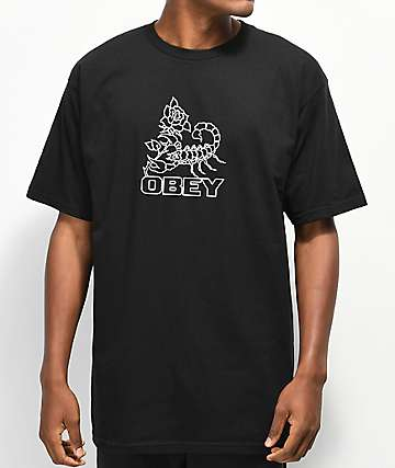Obey Scorpion Rose Black T-Shirt