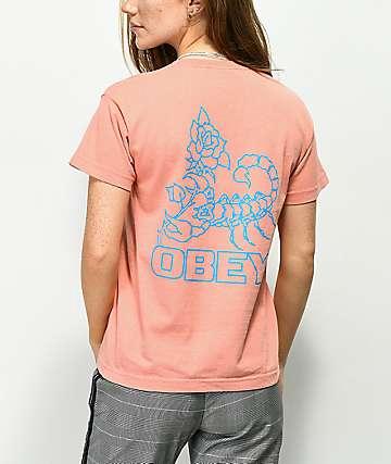 Obey Scorpion Rose Box camiseta rosa