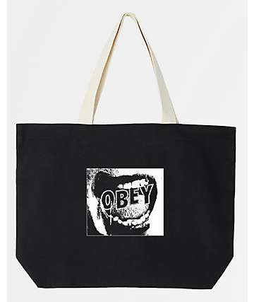 Obey Screamer Black Tote Bag
