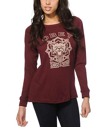 Obey Search & Destroy Long Sleeve T-Shirt