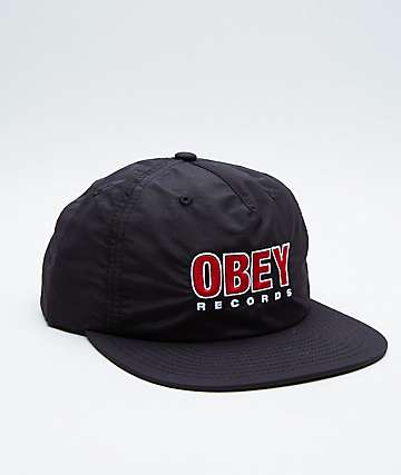 Obey Searching Black Snapback Hat