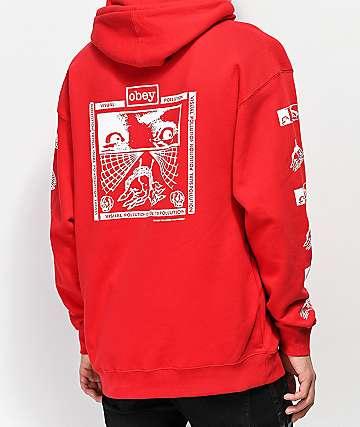 Obey Shockbound Red Hoodie