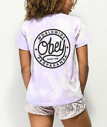 Obey Since 89 Lavender Bleach T-Shirt