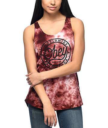 Obey Since 89 Liberty camiseta sin mangas con efecto tie dye