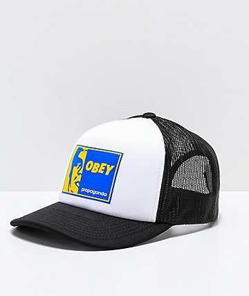 Obey Slapper gorra de camionero en negro y blanco 49f02ca3cf3