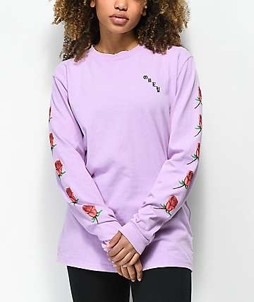 Obey Slauson Rose Lavender Long Sleeve T-Shirt