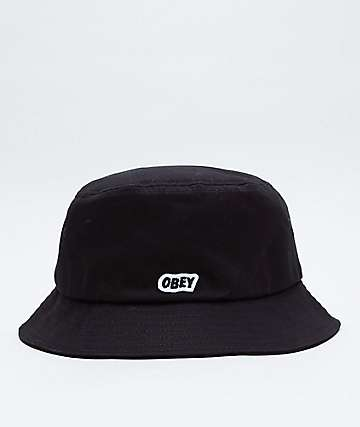 Obey Sleeper Black Bucket Hat