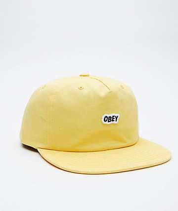 Obey Sleeper Pale Yellow Snapback Hat