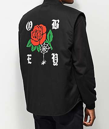 Obey Spider Rose Black Vest