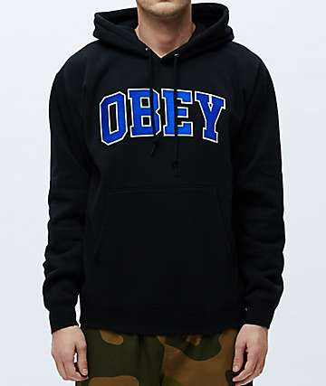 Obey Sports Black & Blue Hoodie