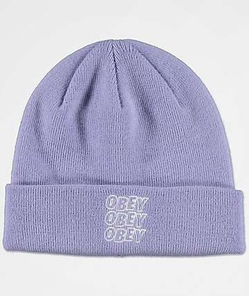 Obey Static Lavender Beanie