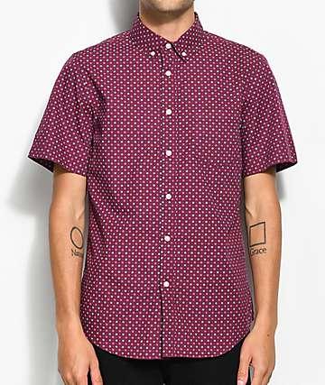 Obey Sterling camisa tejida en color borgoño