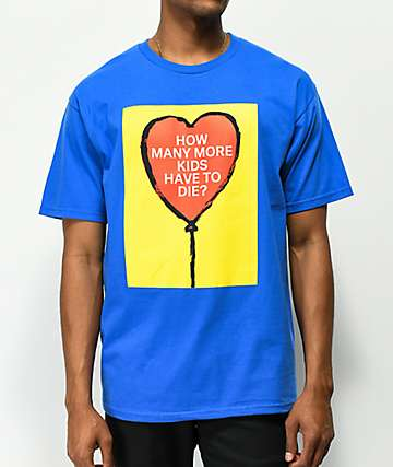 Obey Stop The Violence How Many More Blue T-Shirt