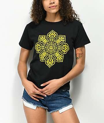 Obey Stop The Violence Mandala Black Shrunken T-Shirt