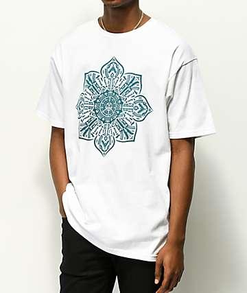 Obey Stop The Violence Mandala White T-Shirt