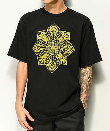 Obey Stop The Violence Mandala camiseta negra