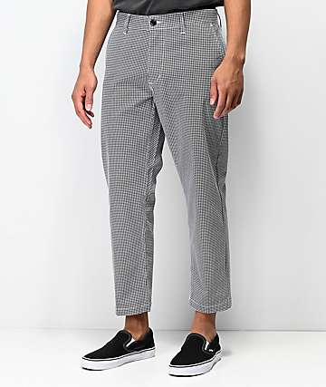 Obey Straggler Black & White Houndstooth Chino Pants