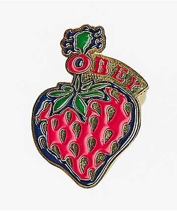Obey Strawberry Good Times Pin