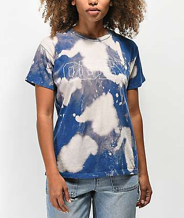Obey Strong Minds Bleached Blue T-Shirt